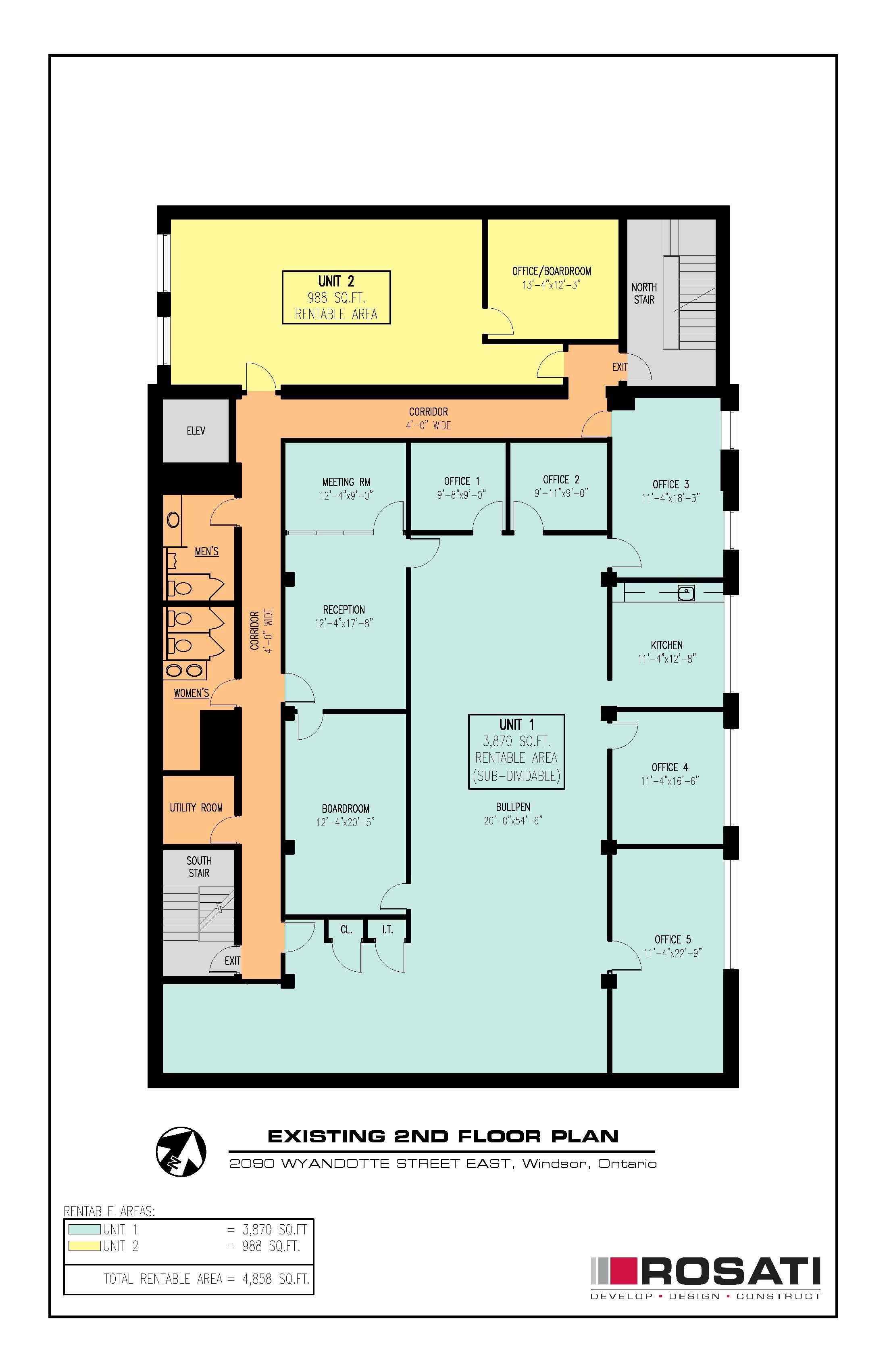 2090 Wyandotte St.E - 2nd Floor Plan